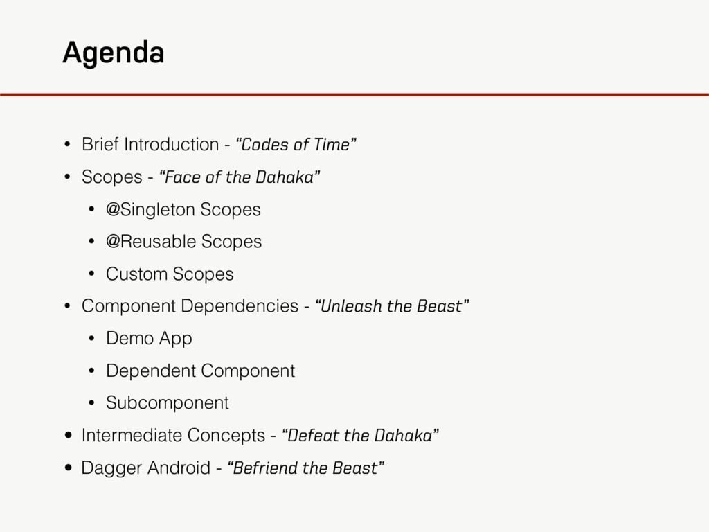 """Agenda • Brief Introduction - """"Codes of Time"""" •..."""