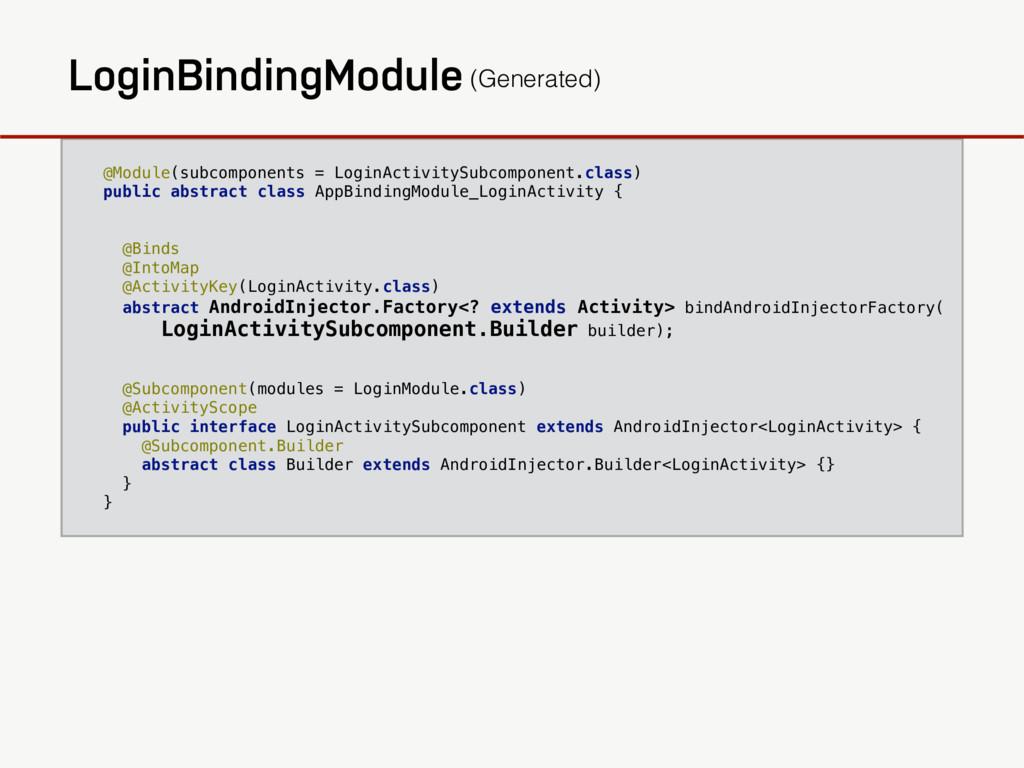 @Module(subcomponents = LoginActivitySubcompone...
