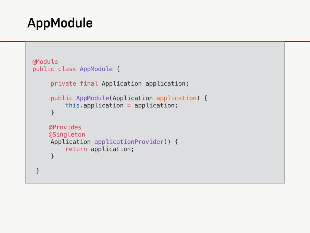 AppModule @Module public class AppModule { priv...