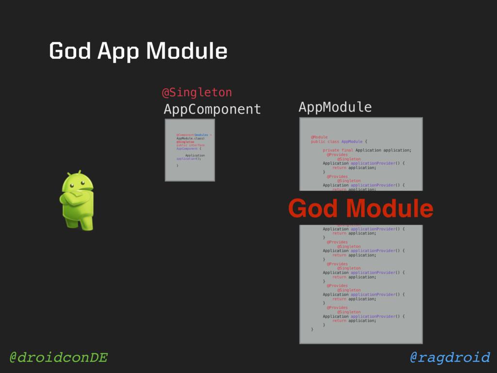 @ragdroid @droidconDE AppComponent @Module publ...