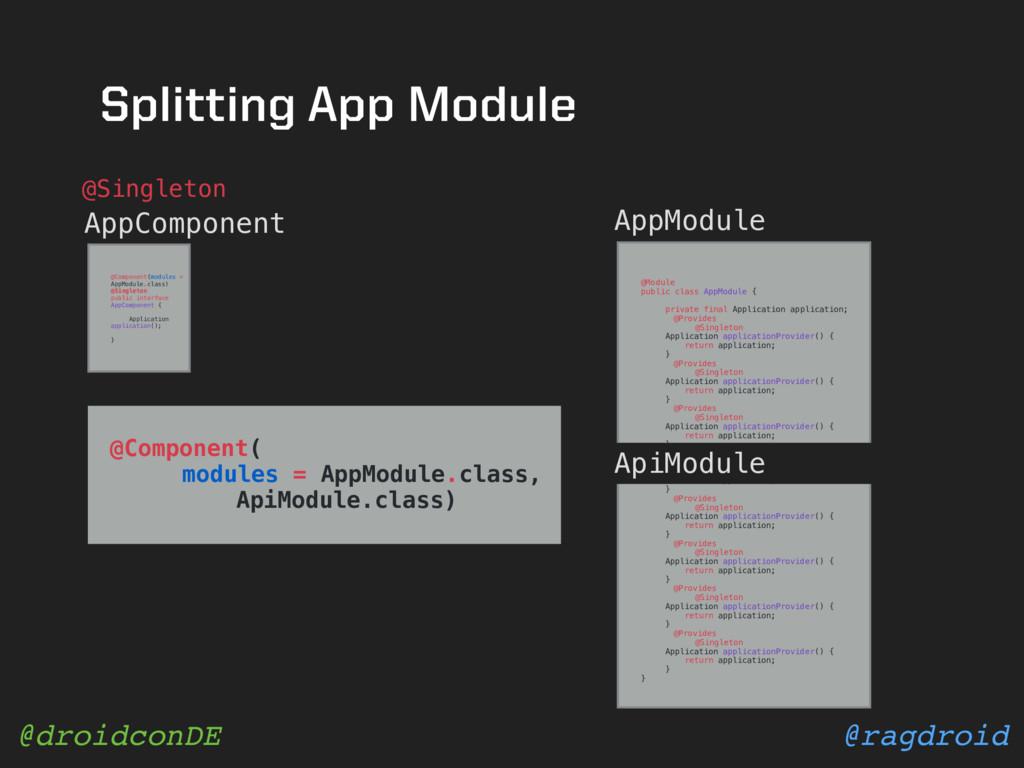 @ragdroid @droidconDE Splitting App Module AppC...