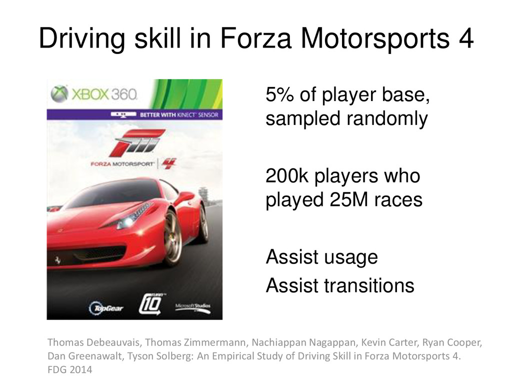 © Microsoft Corporation Driving skill in Forza ...