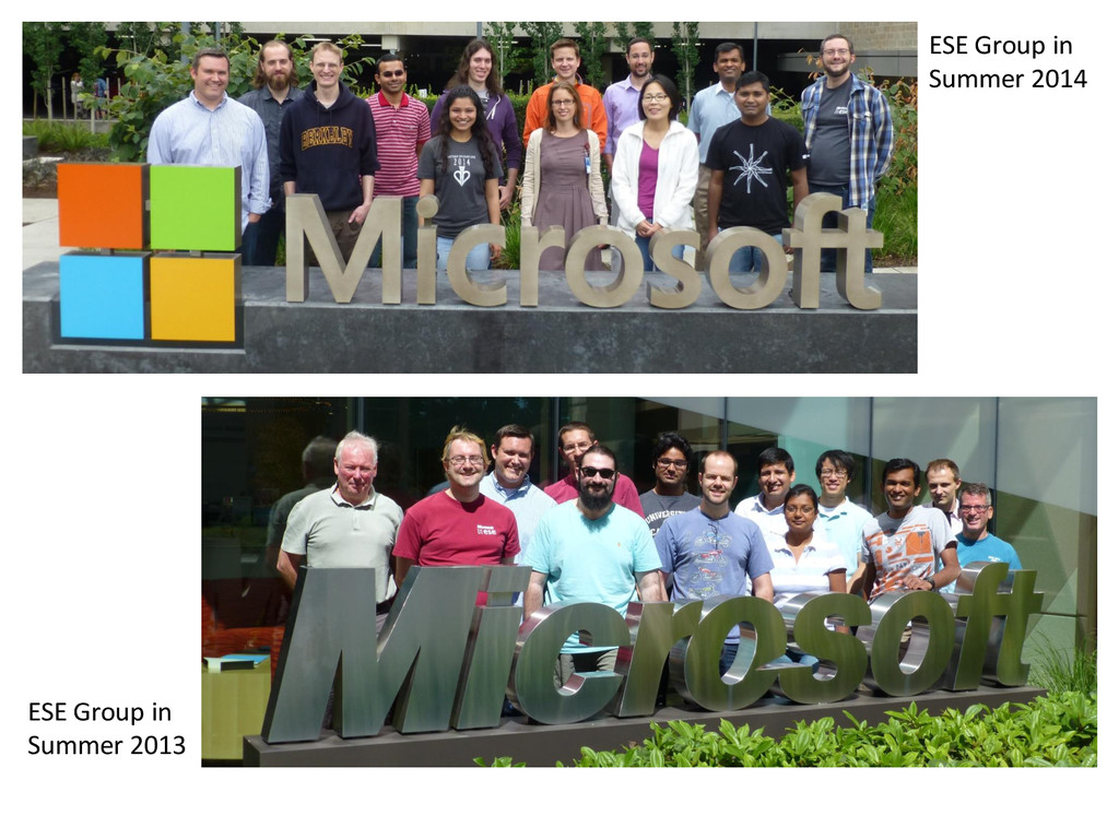 © Microsoft Corporation ESE Group in Summer 201...