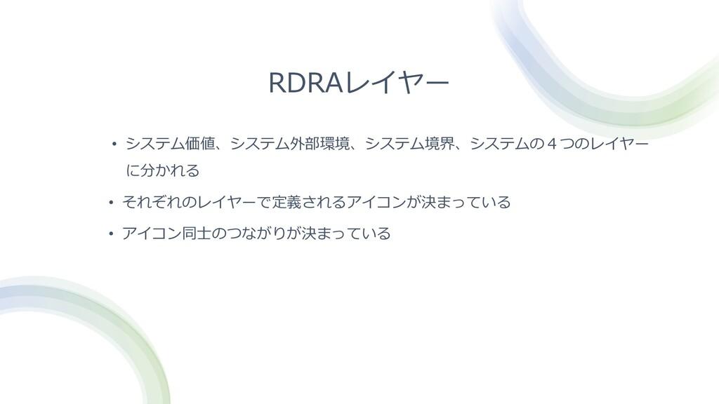 RDRAレイヤー • システム価値、システム外部環境、システム境界、システムの4つのレイヤー ...