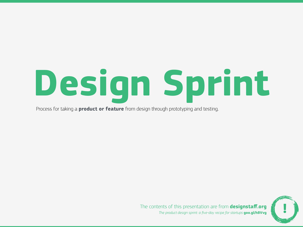 Design Sprint Process for taking a product or f...