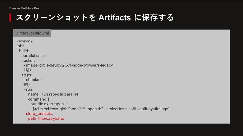 Sansan Builders Box スクリーンショットを Artifacts に保存する ...