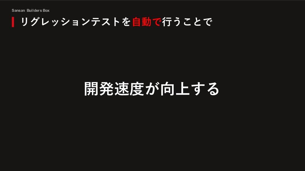 Sansan Builders Box リグレッションテストを⾃動で⾏うことで 開発速度が向上...
