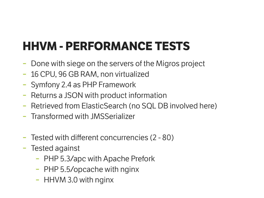 HHVM - PERFORMANCE TESTS - Done with siege on t...