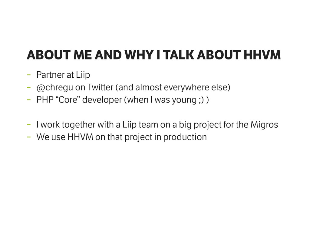 ABOUT ME AND WHY I TALK ABOUT HHVM - Partner at...