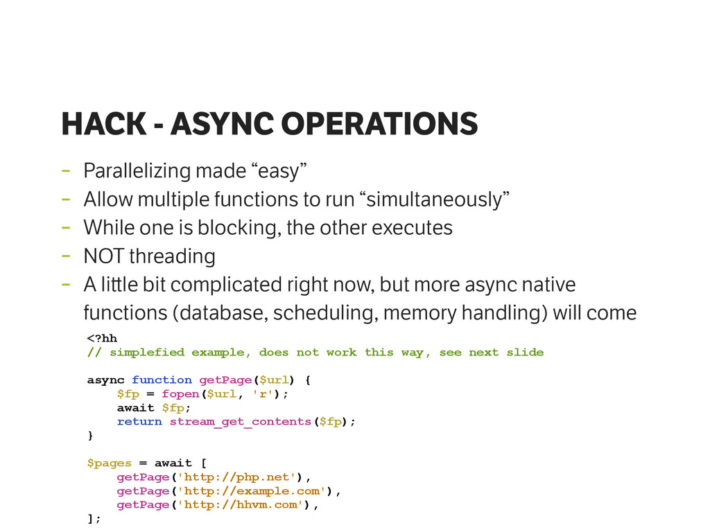 """HACK - ASYNC OPERATIONS - Parallelizing made """"e..."""