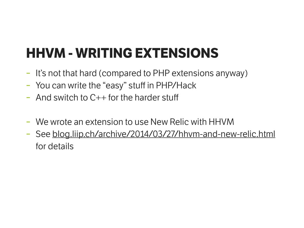 HHVM - WRITING EXTENSIONS - It's not that hard ...