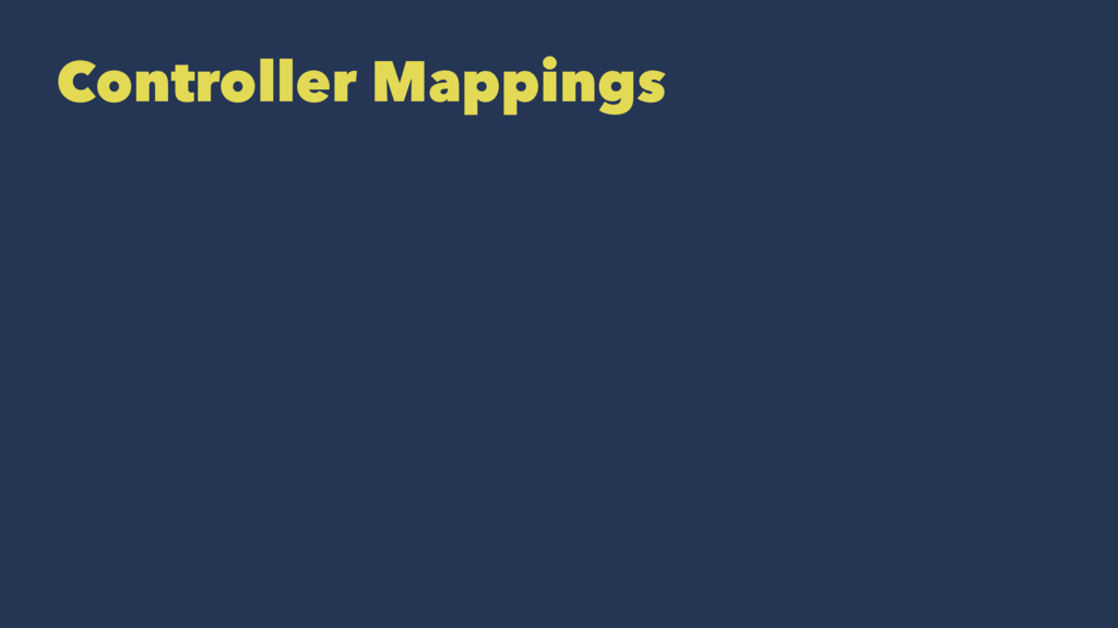 Controller Mappings