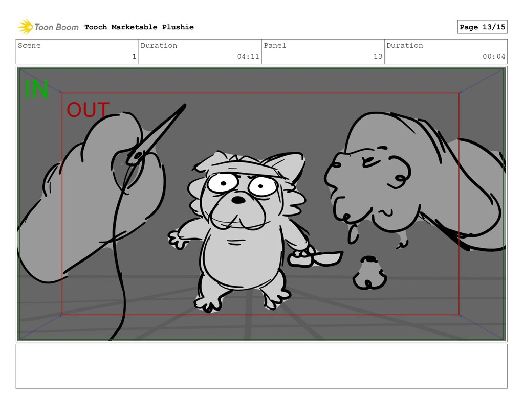 Scene 1 Duration 04:11 Panel 13 Duration 00:04 ...