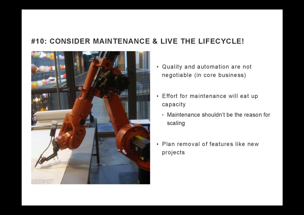 •  Quality and automation are not negotiable (i...