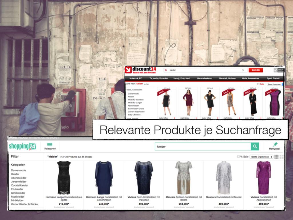 Relevante Produkte je Suchanfrage