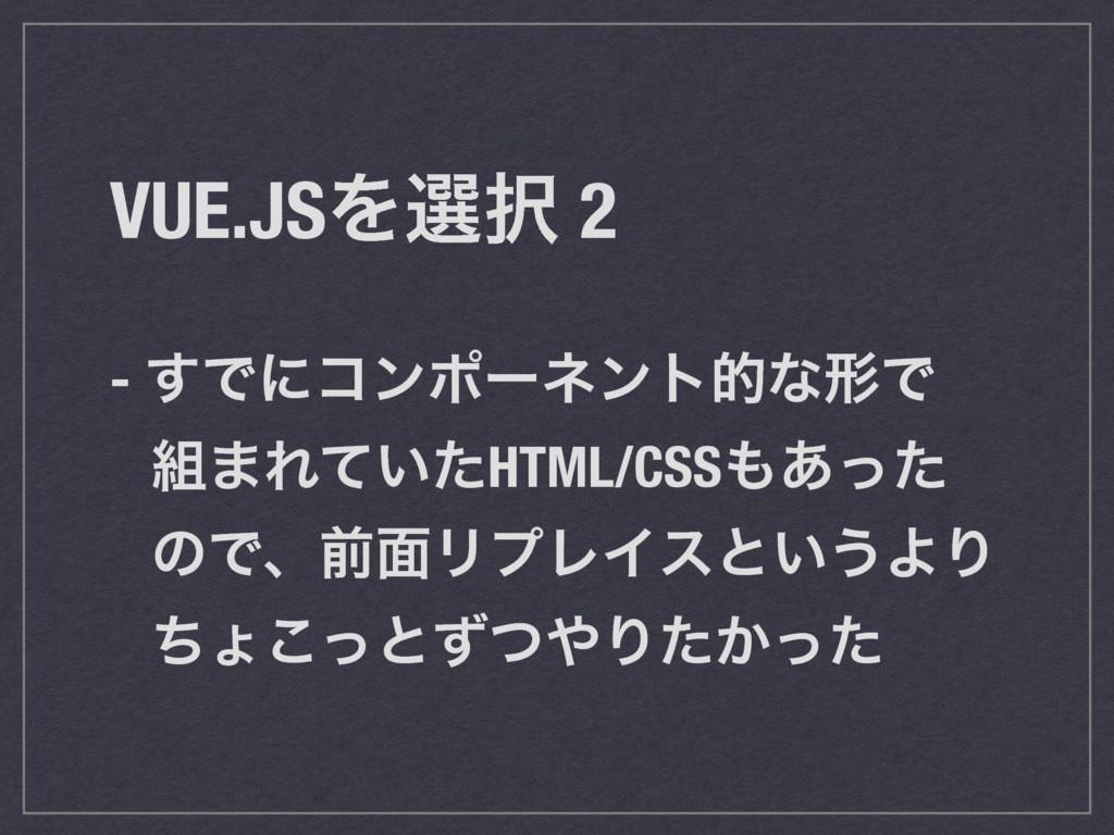 VUE.JSΛબ 2 - ͢ͰʹίϯϙʔωϯτతͳܗͰ ·Ε͍ͯͨHTML/CSS͋ͬͨ...