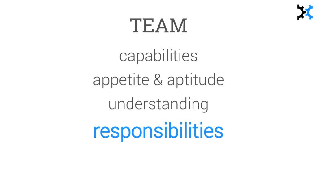 TEAM capabilities appetite & aptitude understan...