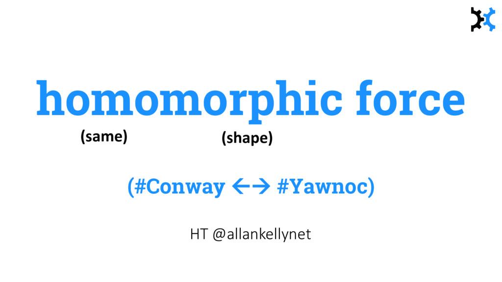 homomorphic force (#Conway  #Yawnoc) HT @alla...