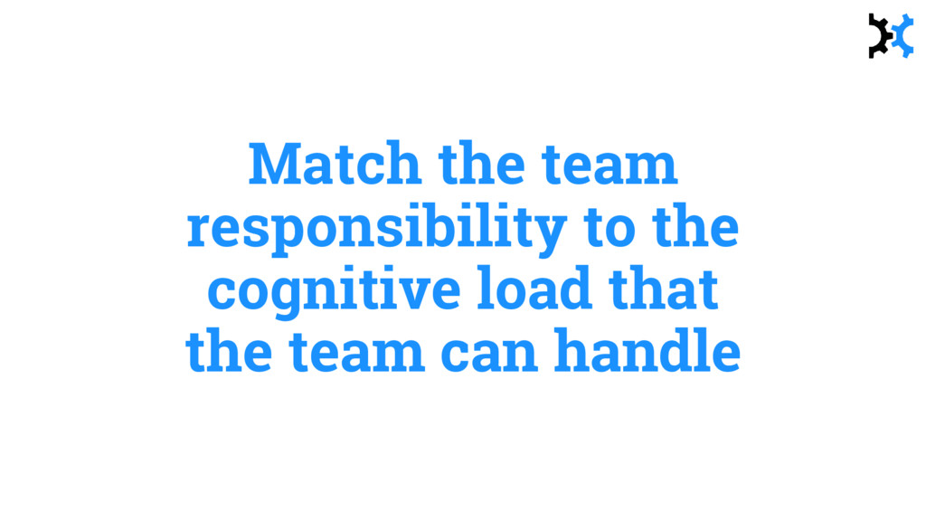 Match the team responsibility to the cognitive ...