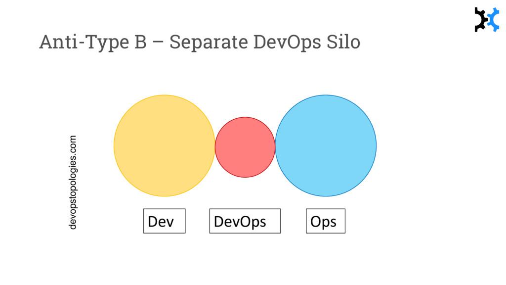 Anti-Type B – Separate DevOps Silo Dev Ops DevO...