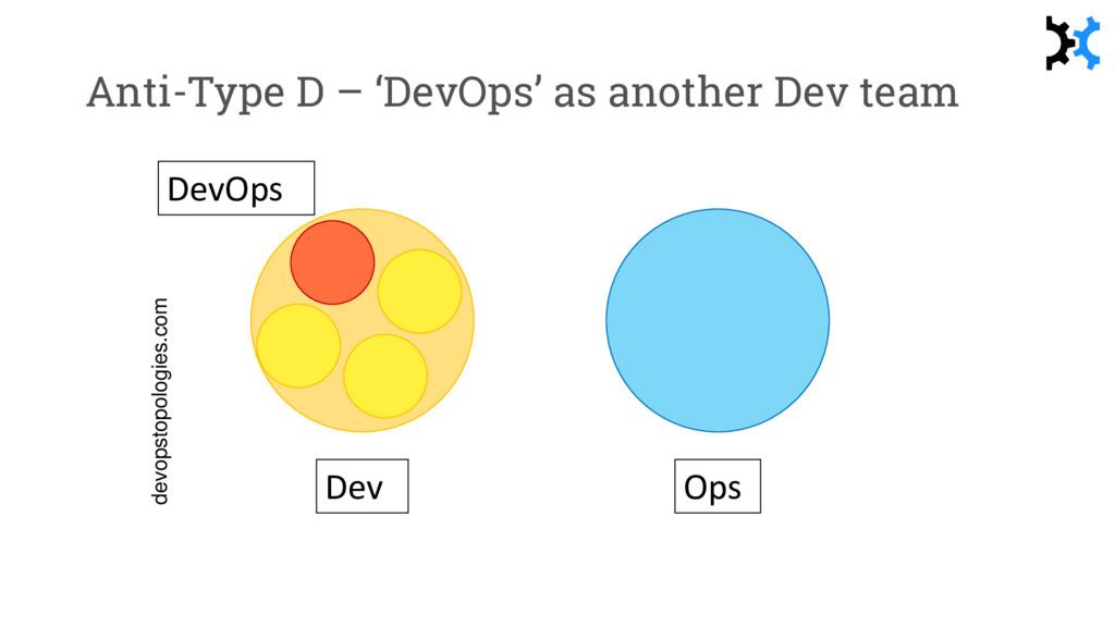 Anti-Type D – 'DevOps' as another Dev team devo...