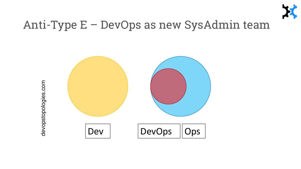 Anti-Type E – DevOps as new SysAdmin team devop...