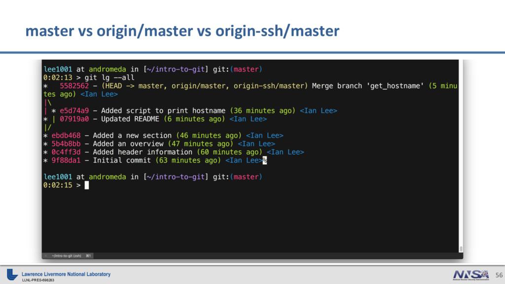 LLNL-PRES-698283 56 master vs origin/master vs ...
