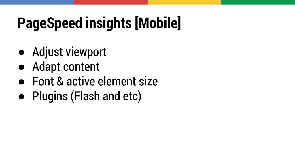 PageSpeed insights [Mobile] ● Adjust viewport ●...