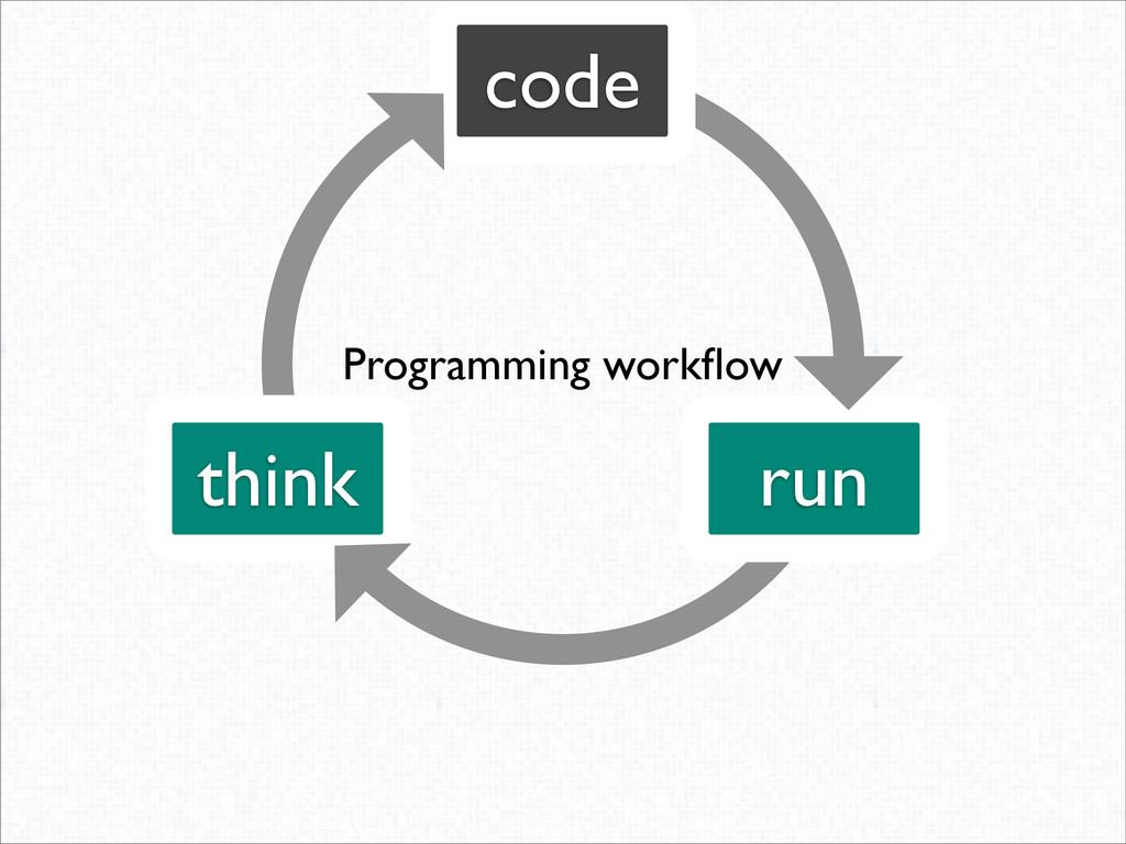 think code run Programming workflow