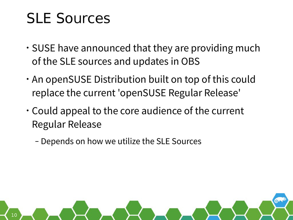 10 SLE Sources • SUSE have announced that they ...