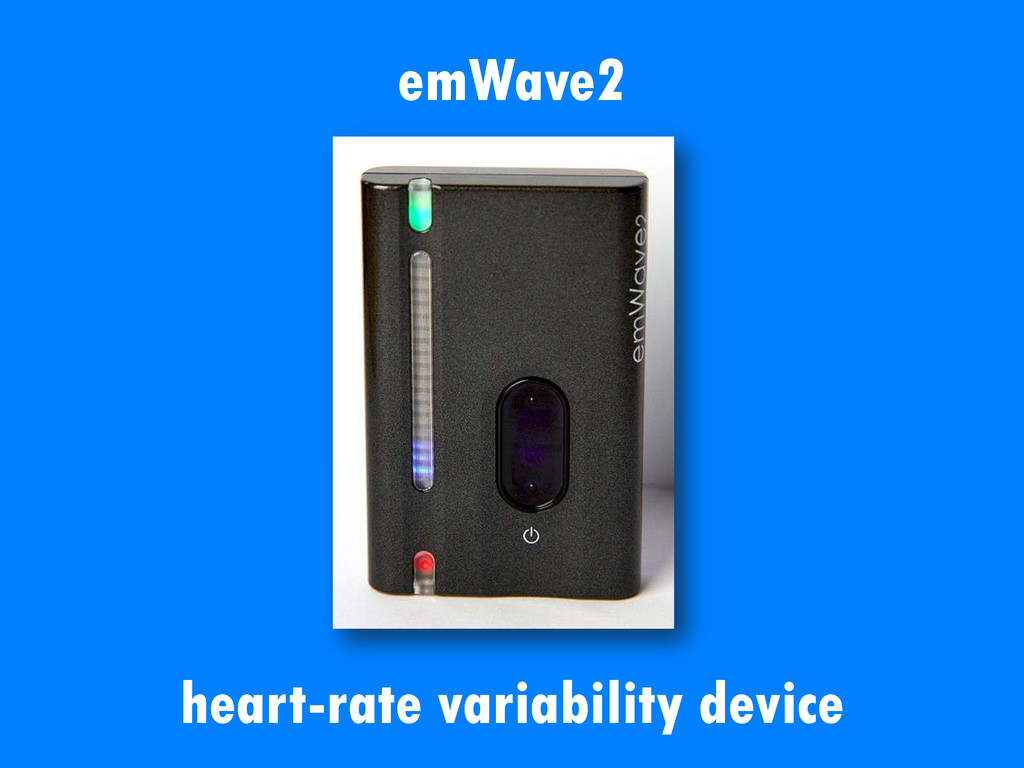 emWave2 heart-rate variability device