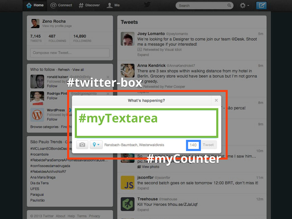 #twitter-box #myTextarea #myCounter