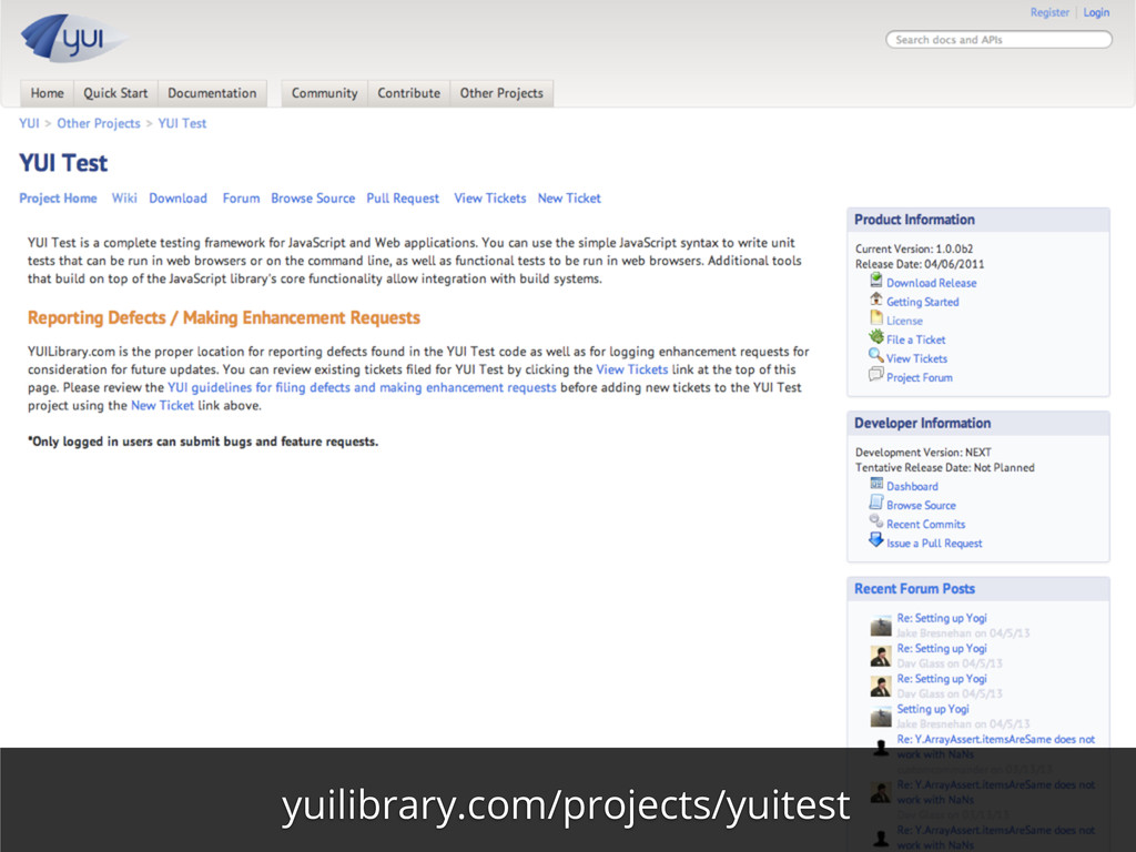 yuilibrary.com/projects/yuitest