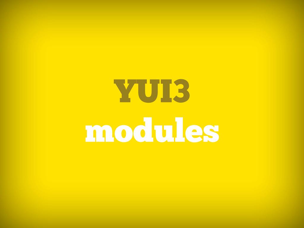 YUI3 modules