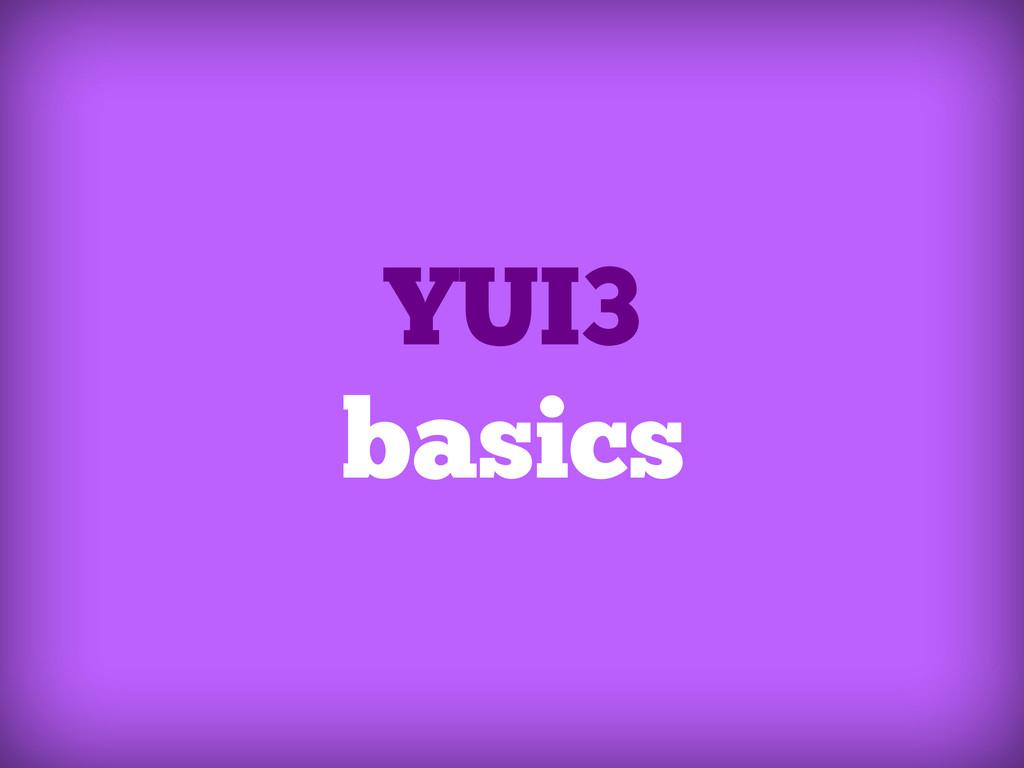 YUI3 basics