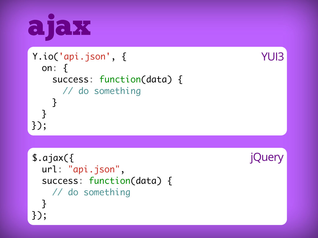 "$.ajax({ url: ""api.json"", success: function(dat..."
