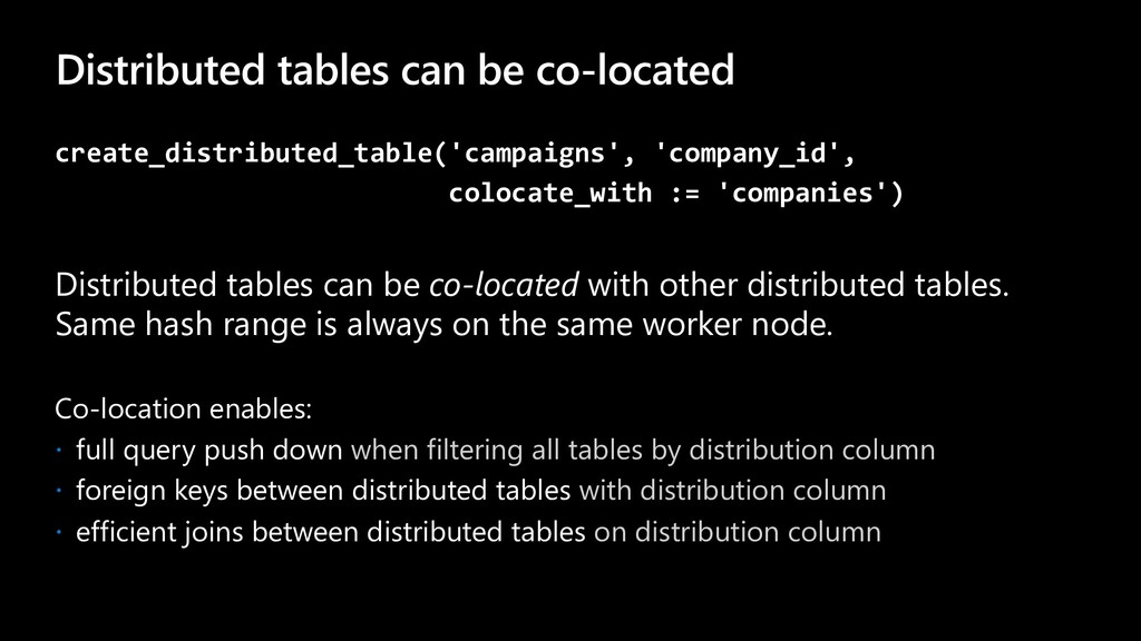 Distributed tables can be co-located create_dis...