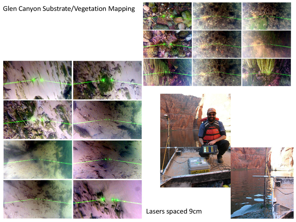 Glen Canyon Substrate/Vegetation Mapping Lasers...