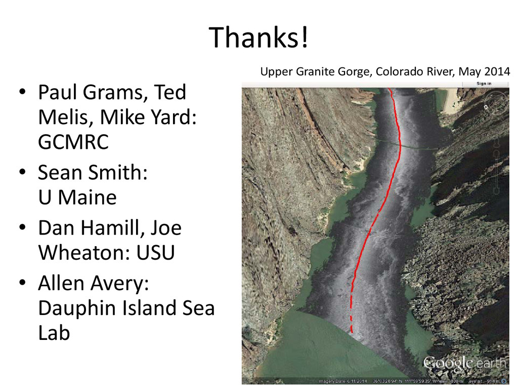 Thanks! • Paul Grams, Ted Melis, Mike Yard: GCM...