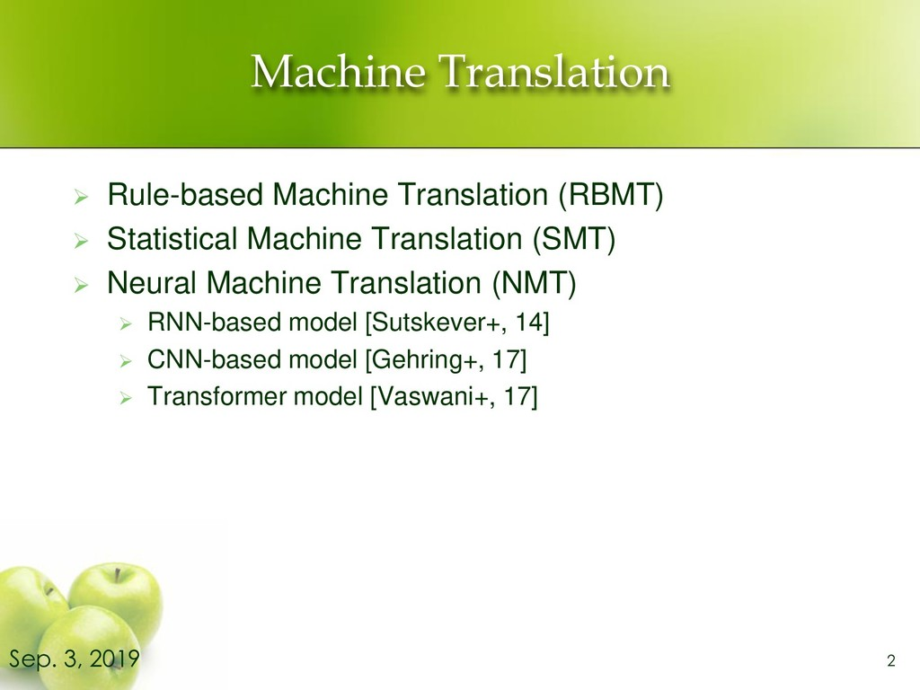 Machine Translation ➢ Rule-based Machine Transl...