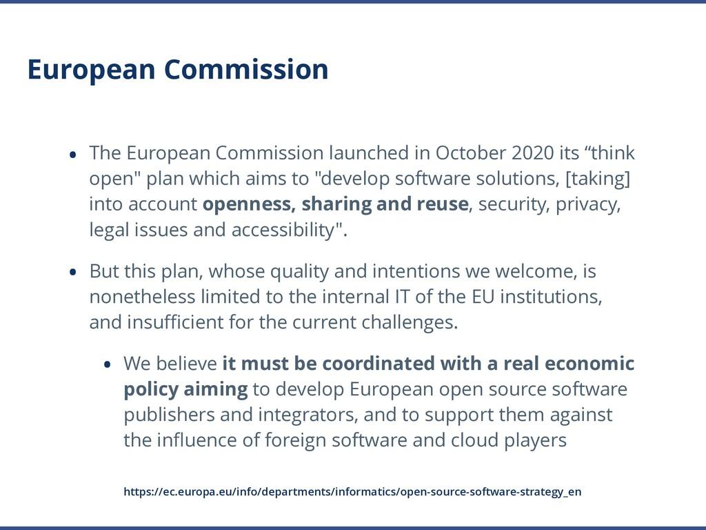 European Commission • The European Commission l...