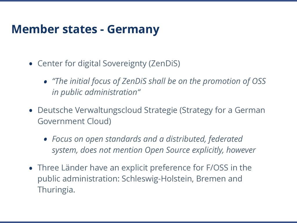Member states - Germany • Center for digital So...