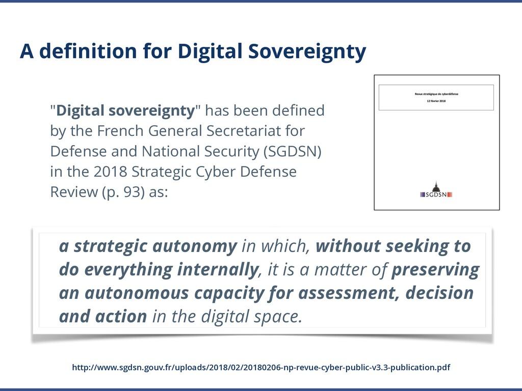 "A definition for Digital Sovereignty ""Digital so..."