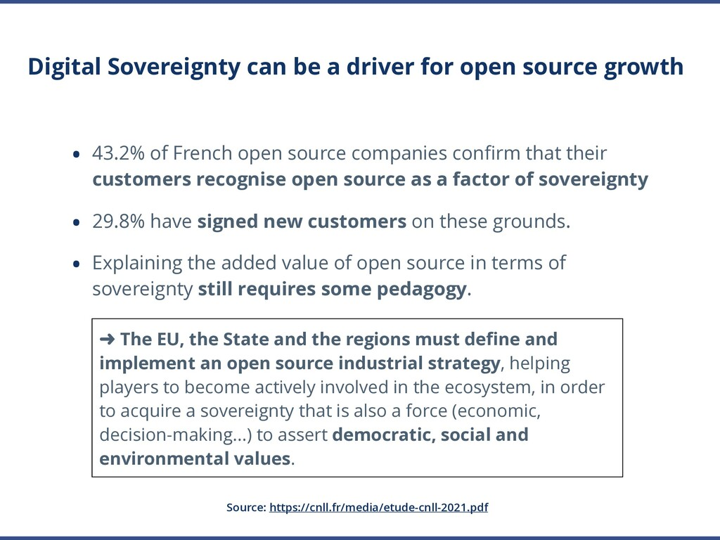 Digital Sovereignty can be a driver for open so...