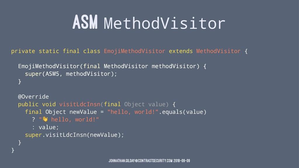 ASM MethodVisitor private static final class Em...