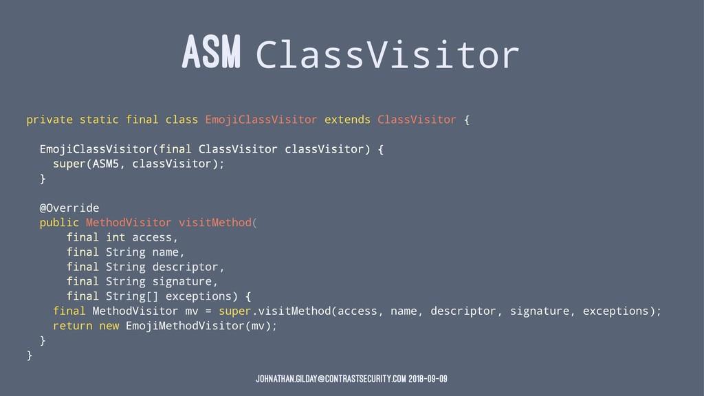 ASM ClassVisitor private static final class Emo...