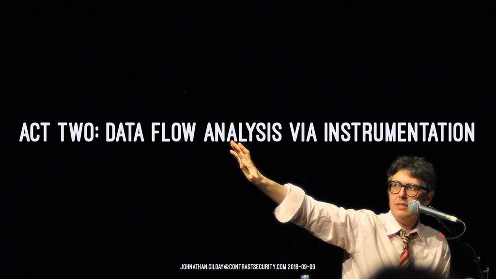 ACT TWO: DATA FLOW ANALYSIS VIA INSTRUMENTATION...