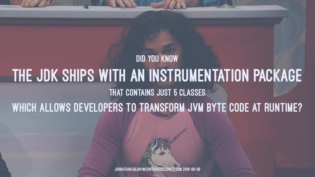 DID YOU KNOW THE JDK SHIPS WITH AN INSTRUMENTAT...