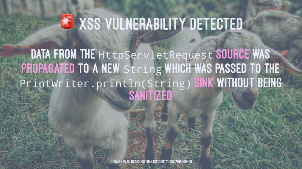 ! XSS VULNERABILITY DETECTED Data from the Http...