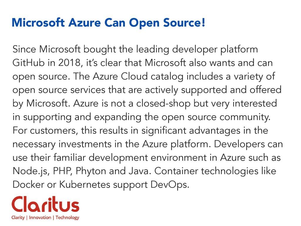 Microsoft Azure Can Open Source! Since Microsof...